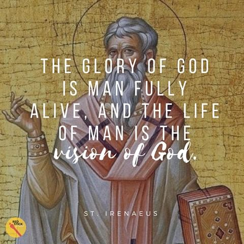 Image result for St. Irenaeus of lyons quotes