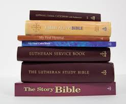 Image result for Bible and a lutheran hymnal